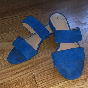 A New Day Blue Suede Sandals